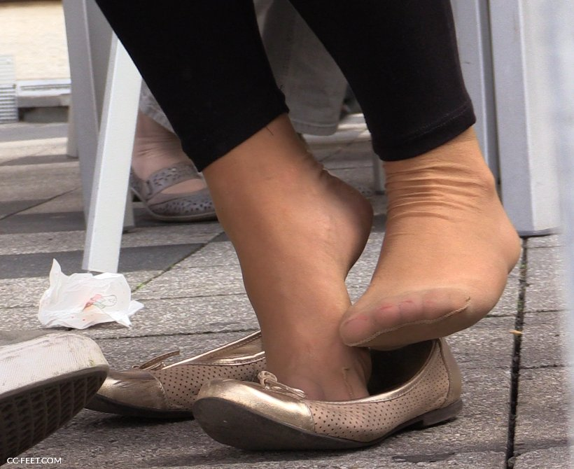 image Candid nylon soles flats dipping