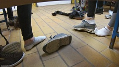 cc feet com candid cam shoeplay with girls feet socks